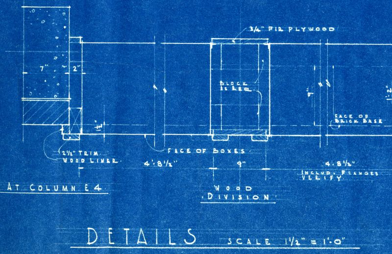Architectural blueprint cover